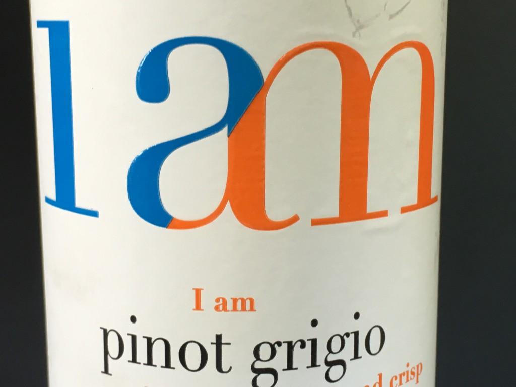 En lidt tynd kop Pinot Grigio